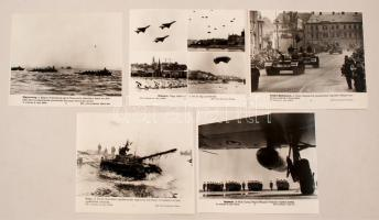 cca 1970 A Magyar Néphadsered gyakorlaton és parádén 5 db MTI sajtófotó 21x25 cm
