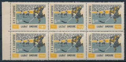 1963 Téli olimpia 1964, Innsbruck ívszéli hatostömb Mi 795