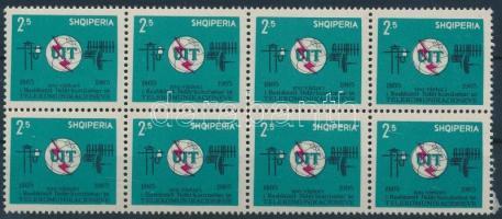 100 éves a Nemzetközi Távközlési Unió 8-as tömb, International Telecommunication Union block of 8
