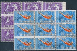 1971 Nyári olimpia, München sor 3 értéke 9-es tömbökben Mi 1503-1505