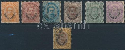 1893 Forgalmi sor záróérték nélkül Mi 4-10