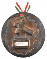 1991. Máriakeménd 91 - 1939-45 festett porcelán plakett nemzetiszín szalaggal (214mm) T:2 kis ph., ragasztásnyom