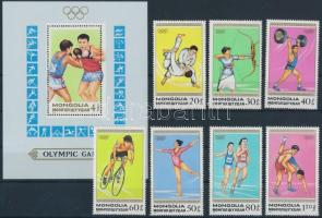 1988 Nyári olimpia sor Mi 1964-1970 + blokk Mi 129