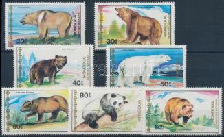 1989 Medve sor Mi 2032-2038