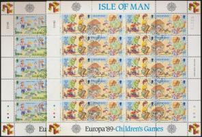 1989 Europa CEPT Gyermekjátékok kisívsor Mi 404-407