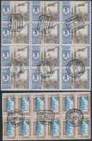 Pro Seminario Zaragoza jótékonysági bélyegek 2 db 12-es tömb
