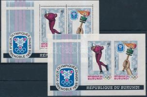 1968 Téli Olimpia fogazott és vágott blokk Mi 26 A + B