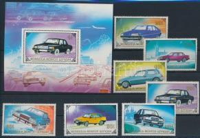 1989 Autók sor Mi 2065-2071 + blokk Mi 139