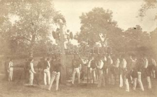 K.u.K. Austro-Hungarian officers field practice, photo, Osztrák-magyar tiszti iskolai gyakorlat, fotó