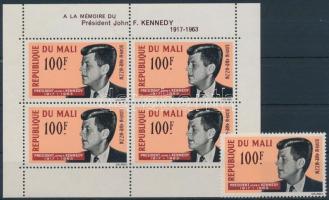 1964 Kennedy elnök Mi 91 + blokk 3