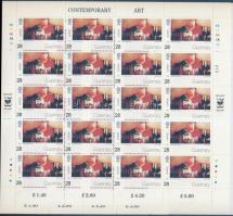 1993 Europa Kortárs művészet kis ív sor Mi 608-611