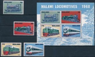 1968 Mozdonyok sor Mi 84-87 + blokk 11