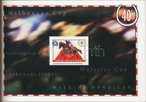Horse Racing stamp booklet, Versenylovak bélyegfüzet