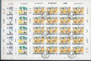 1989 Europa CEPT Gyermekjáték kisív sor Mi 449-451