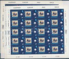 1991 Europa CEPT Űrutazás kisív sor Mi 518-521