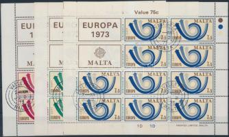 1973 Europa CEPT kisív sor Mi 472-474
