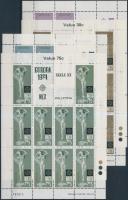 1974 Europa CEPT Szobrok kisív sor Mi 493-496