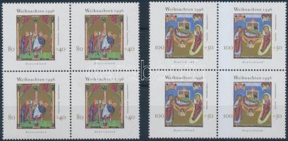 1996 Karácsony sor négyes tömbökben Mi 1891-1892