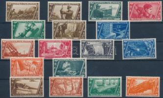 1932 Római menetelés 18 érték Mi 415-421, 423-428, 431-434 (Mi 422, 429-430 hiányzik / missing)