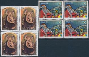 1996 Karácsony sor négyestömbökben Mi 2472-2473