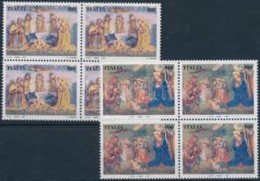 1997 Karácsony sor négyestömbökben Mi 2539-2540