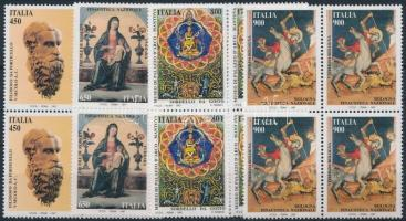1997 Kulturális örökség sor négyestömbökben Mi 2532-2535