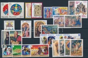1993-1997 Christmas 28 diff stamps with sets, Karácsony motívum 1993-1997 28 klf bélyeg, közte sorok