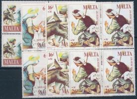 1997 Karácsony sor négyestömbökben Mi 1024-1027