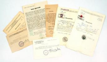 cca 1940-1945 Orvostanhallgató hölgy szigorlati bizonyítványai és tanulmányi iratai 7 db