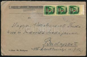 """Inflation cover Domestic cover with auxiliary postmark, (2. díjszabás) Távolsági levél Nagydobosról """"227"""" kisegítő bélyegzéssel"""