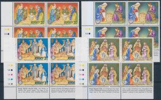 1998 Karácsony sor négyestömbökben Mi 866-869