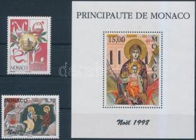 1998 Karácsony sor Mi 2428-2429 + blokk Mi 75