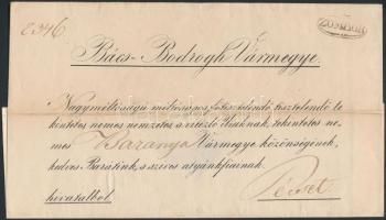 ~1845 Hivatalos levél / official cover ZOMBOR - Pécs