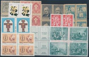 Argentina 1944-1988  8 diff blocks of 4 + 1 block of 6, Argentína 1944-1988  8 klf négyestömb + 1 hatostömb