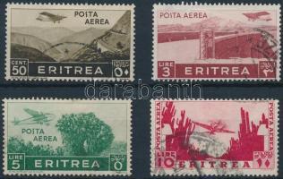 1936 Repülőposta értékek Mi 244, 250-252