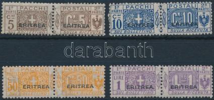 1917 4 pár Csomagbélyeg Mi 9-10, 13-14