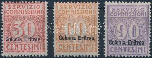 1916 Elszámolási bélyegek sor Mi 3-5
