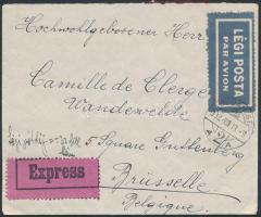 1932 Expressz légi levél Brüsszelbe / Express airmail cover to Brussels
