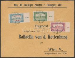1918. jul. 8. Légi levél Bécsbe 1K50f Repülő posta bélyeggel és 1.80K kiegészítő bérmentesítéssel / Mi 210 with additional franking on airmail cover to Vienna