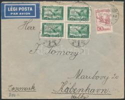 1933 Légi levél Dániába / Airmail cover to Denmark