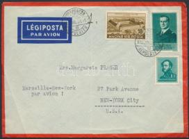 1939 Cenzúrás légi levél New Yorkba / Censored airmail cover to New York