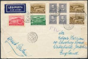 1939 Légi levél Angliába / Airmail cover to England