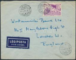 1938 Légi levél Londonba / Airmail cover to London