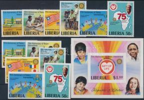 1979 Rotary fogazott és vágott sor Mi 1161-1166 A- B + vágott blokk 94 B