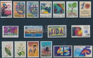 1989-1990 3 diff stamps + 7 diff sets, 1989-1990 3 klf bélyeg + 7 klf sor