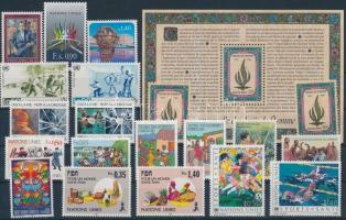 1987-1988 20 stamps with sets + 1 block, 1987-1988 20 db bélyeg közte sorok + 1 db blokk