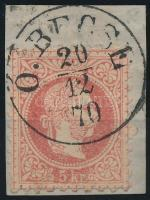 """""""Ó.B(E)CSE"""" Austria-Hungary-Serbia postmark """"Ó.B(E)CSE"""""""