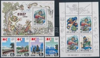 1994-2000 Vehicles 5 stamps + 1 mini sheet + 4 blocks, 1994-2000 Járművek 5 klf bélyeg + 1 db kisív + 4 klf blokk (2 db stecklapon)