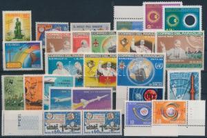 Space Exploration 1965-1966 26 stamps with sets, Űrkutatás, UIT motívum 1965-1966 26 db bélyeg, közte sorok