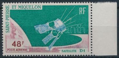 1966 Űrkutatás; D1 műhold ívszéli bélyeg Mi 415